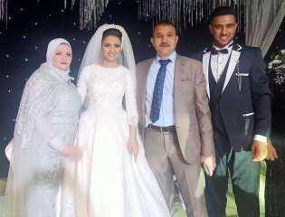 """المزيدي يهنيء الحاج حماده سامي بزفاف نجلته """"منار"""" .. صور وفيديو"""