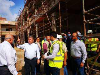 وزير قطاع الأعمال العام يتفقد أعمال إنشاء أكبر مصنع غزل في العالم بالمحلة الكبرى