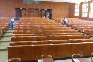 بالصور.. جامعة المنصورة تستعد للإمتحانات