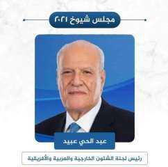 الدكتور عبدالحي عبيد رئيسا للجنة الشئون الخارجية والعربية والإفريقية بمجلس الشيوخ
